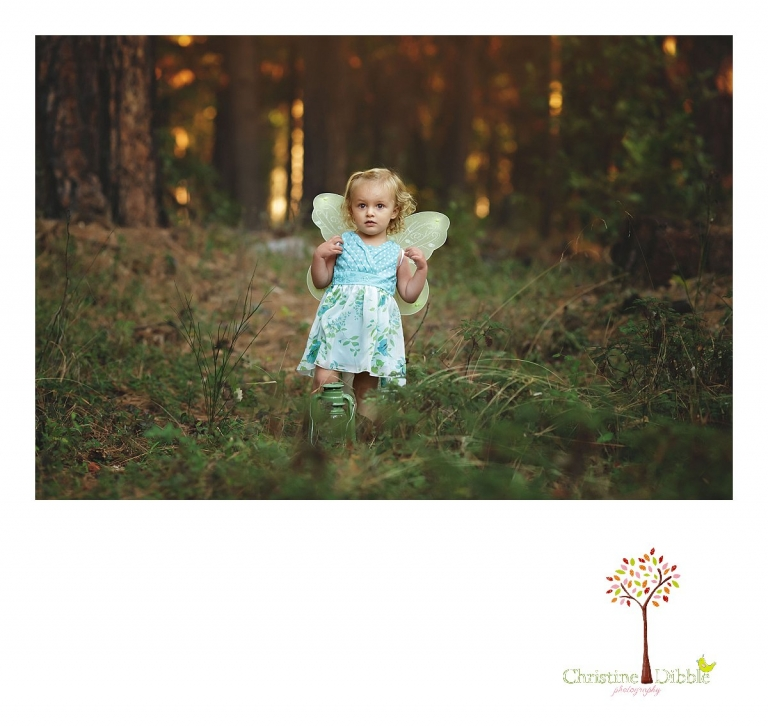 Sonora photography by Christine Dibble Photography captures photos of a little forest fairy during Grass Valley mini sessions at Empire Mine State Park.