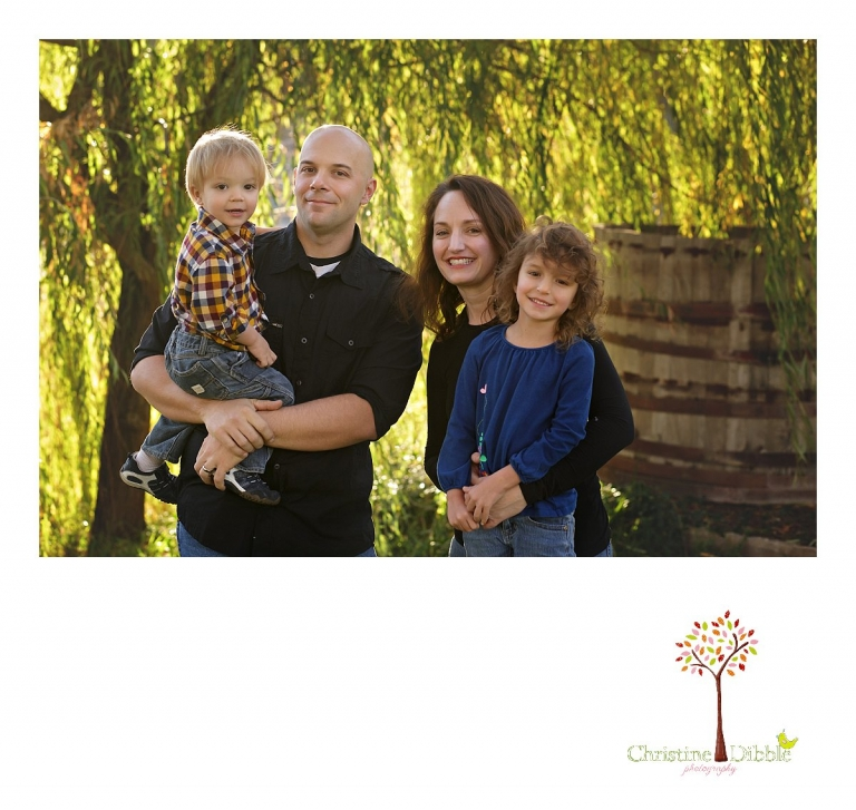 Christine Dibble Photography, best Sonora family photographer, takes family photography to a new level chasing children who will not sit still!