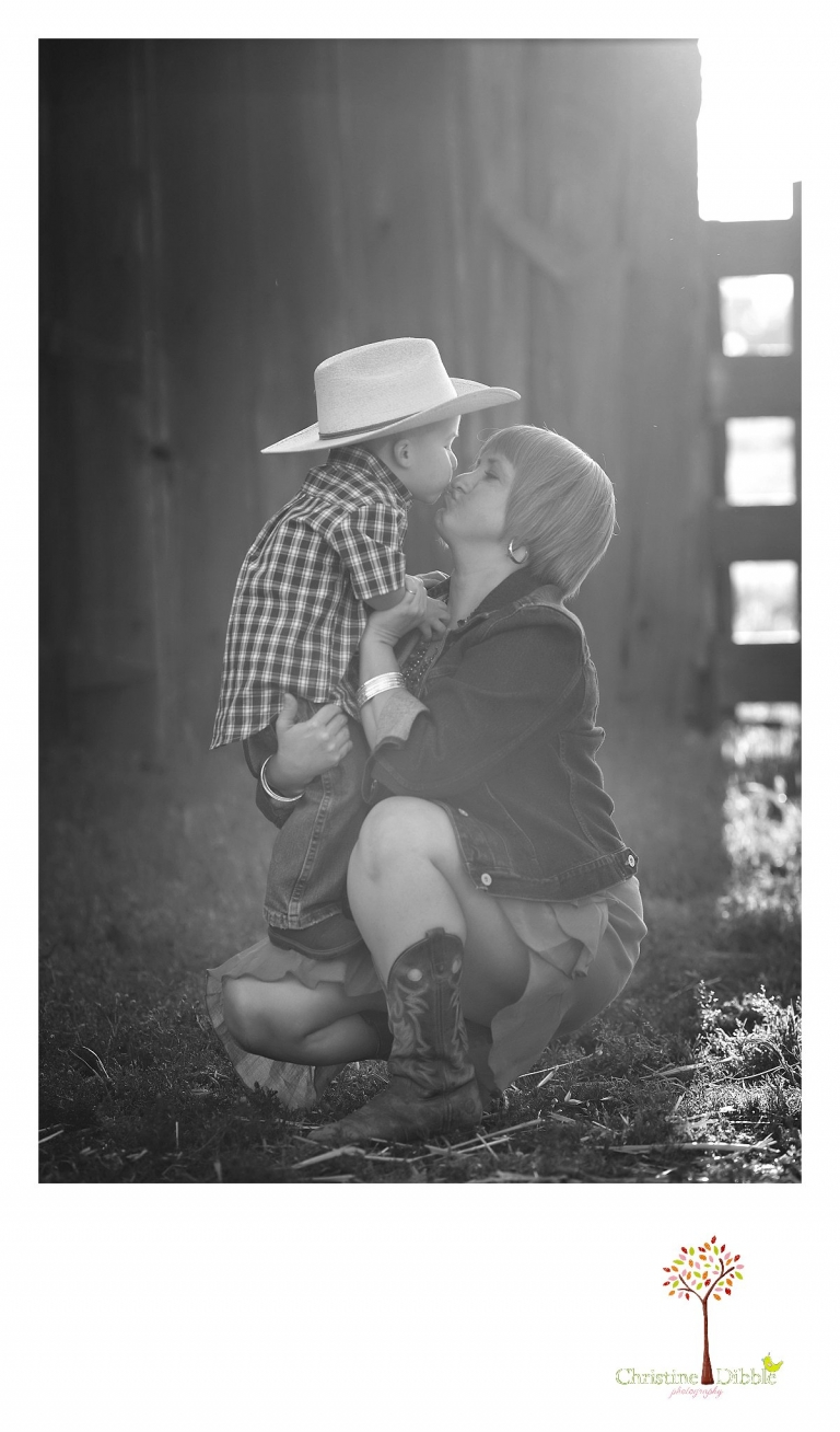 Sonora child photography by Christine Dibble Photography captures a three year old boy and his mother at an historical family ranch.