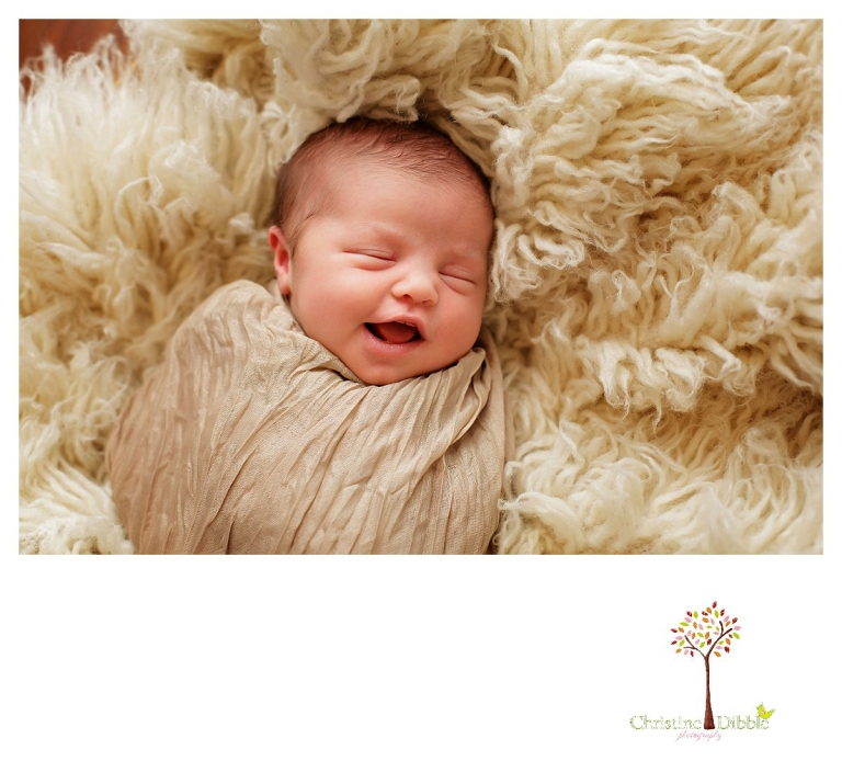 Newborn photography by Sonora photographer Christine Dibble Photography includes studio sessions with posed and prop images of sleeping babies.
