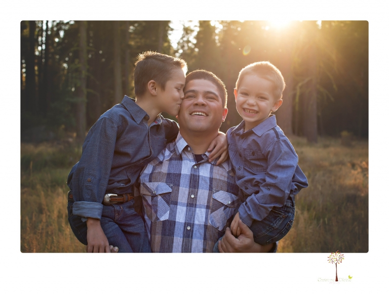 Sonora photographer Christine Dibble Photography takes family portraits at Pinecrest Lake in a golden lit field and on the beach.